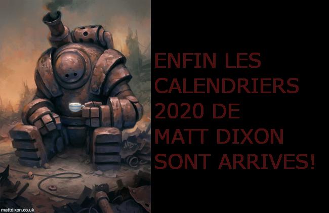 Calendrier Matt Dixon 2020